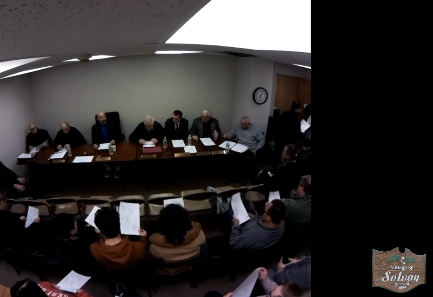 Village of Solvay Organization Meeting 01/3/2019