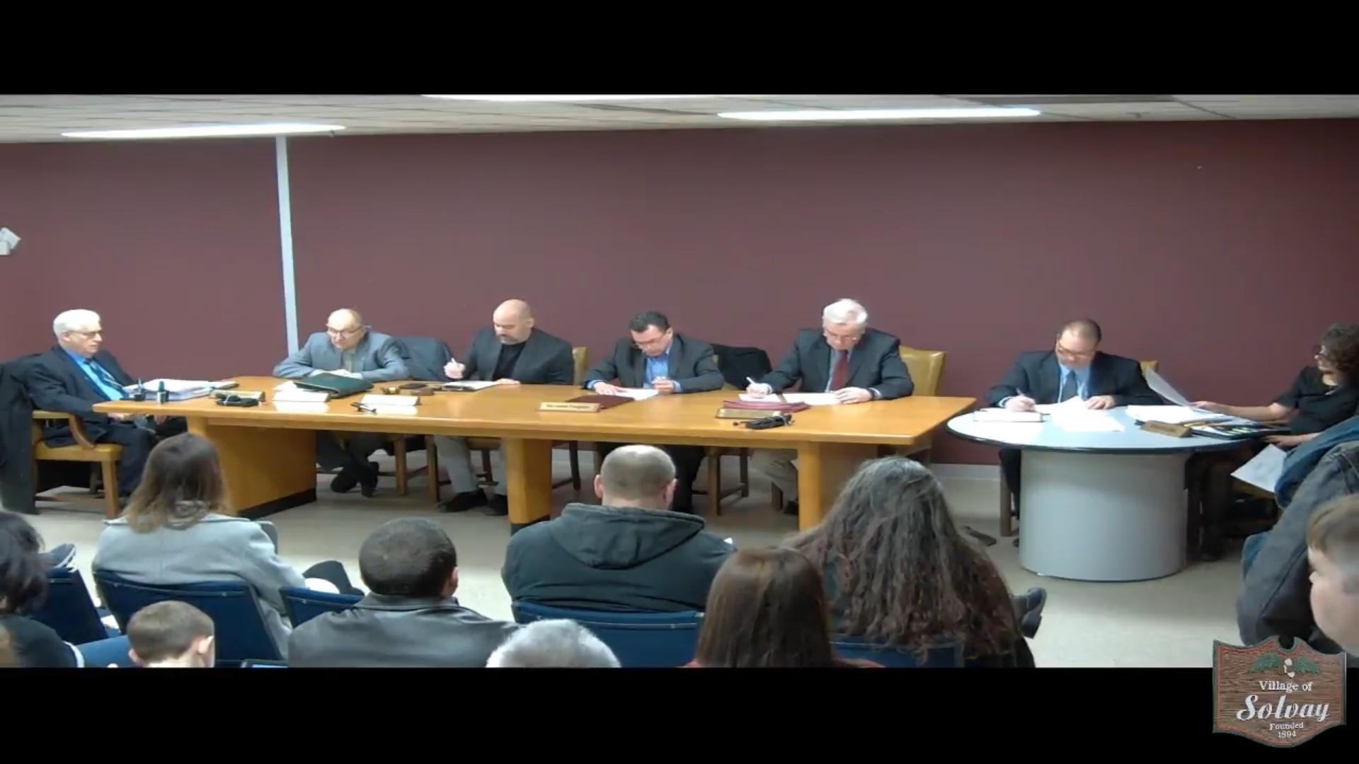 Village of Solvay Special Board-Organizational Meeting January 7 2020